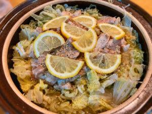 ねぎ塩ごま油鍋