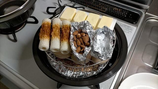 チーズの下にはクッキングシート